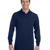 Adult 5.6 oz. SpotShield™ Long-Sleeve Jersey Polo