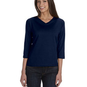Ladies' Premium Jersey 3/4-Sleeve T-Shirt