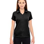 Ladies' Exhilarate Coffee Charcoal Performance Polo with Back Pocket