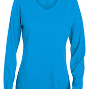 Ladies' Wicking Long-Sleeve T-Shirt