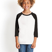 Youth CVC 3/4-Sleeve Raglan Tee