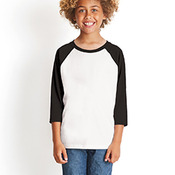 Youth CVC 3/4-Sleeve Raglan