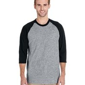 Adult  Heavy Cotton™ 5.3 oz. 3/4-Raglan Sleeve T-Shirt