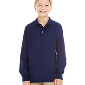 Youth 5.6 oz. SpotShield™ Long-Sleeve Jersey Polo